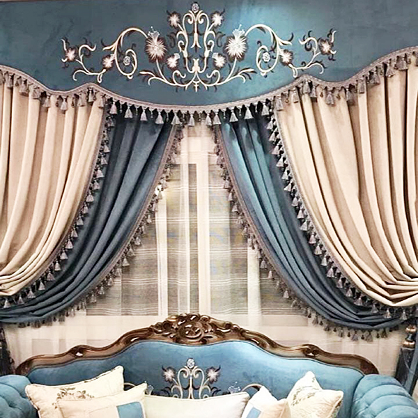 Traditional Blue Curtain